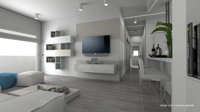 Progetto di interni casa al mare a grosseto for Interni casa