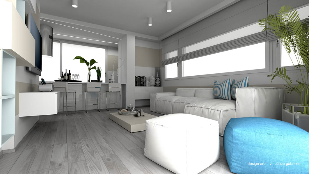Progetto di interni casa al mare a grosseto for Interni casa design