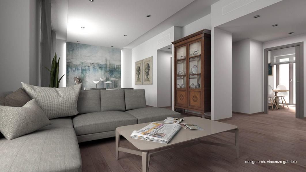 Progettazione interni appartamento a grosseto for Progettazione spazi interni