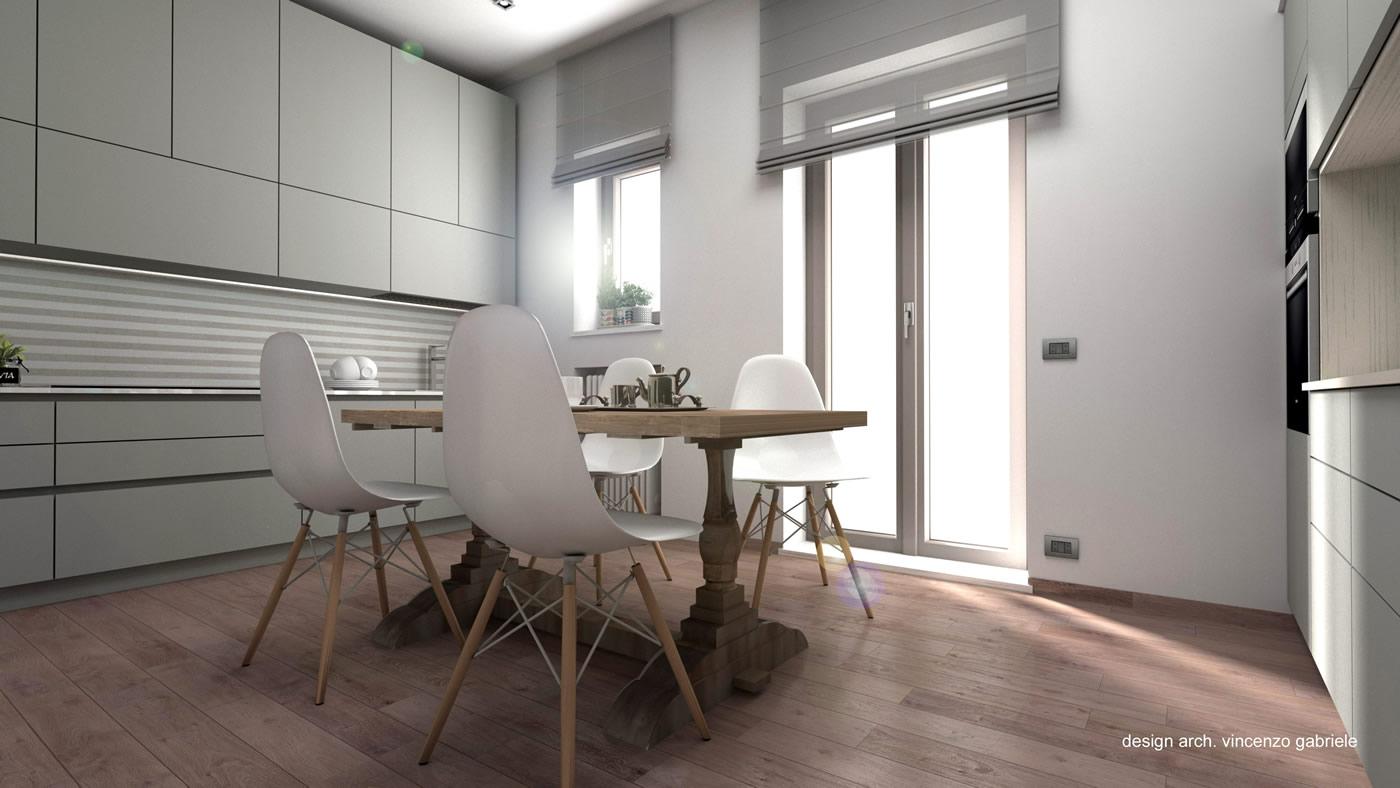 Progettazione interni appartamento a grosseto for Progettazione interni