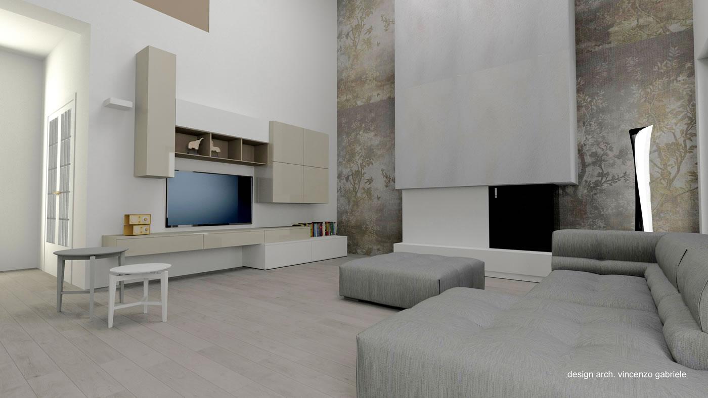 Arredamento Da Soggiorno : Un soggiorno a doppia altezza