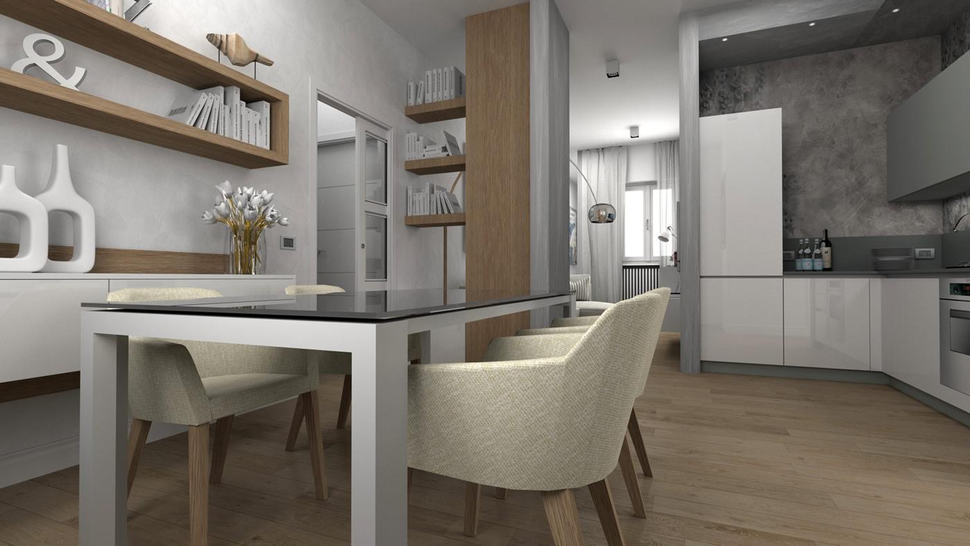 Appartamento 65 mq for Progettazioni interni