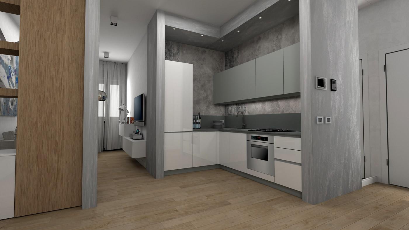 Appartamento 65 mq for Progetti interni case