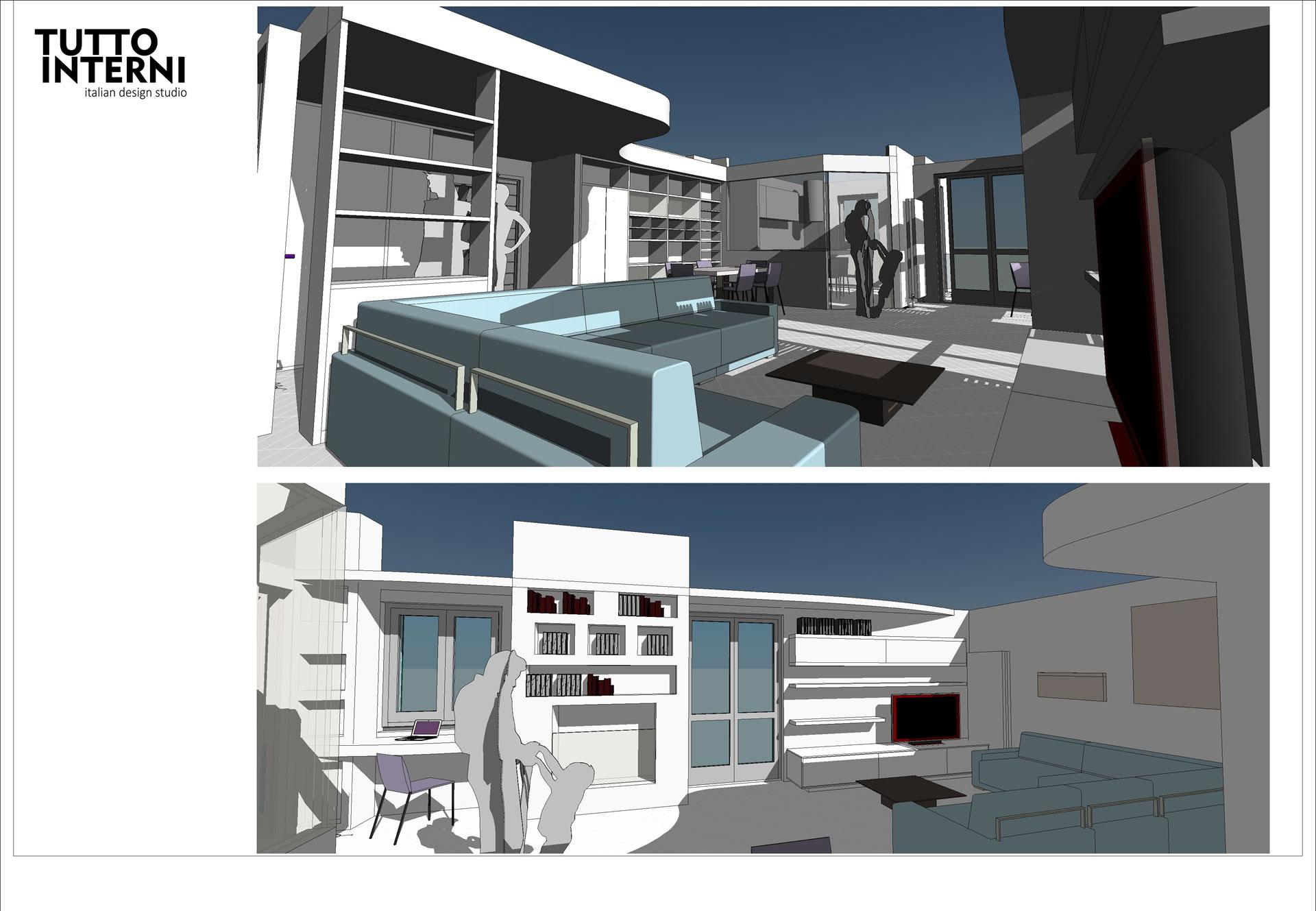 Progettazione interni e arredamento di case for Progettazione di case